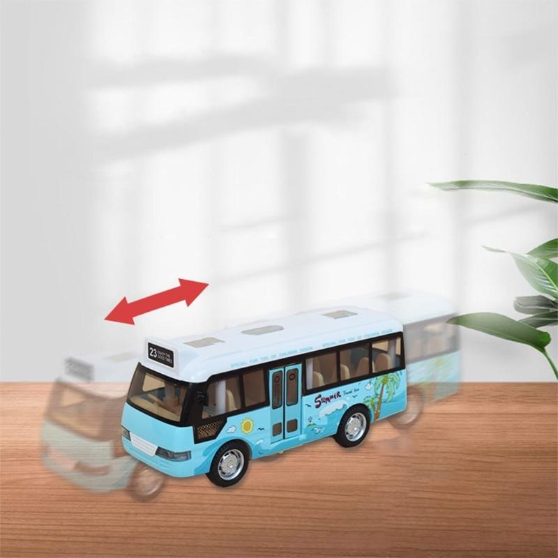 School Bus Sound Light Tour Bus Model Boy Toy Diecasts Toy Vehicles Kids Gift
