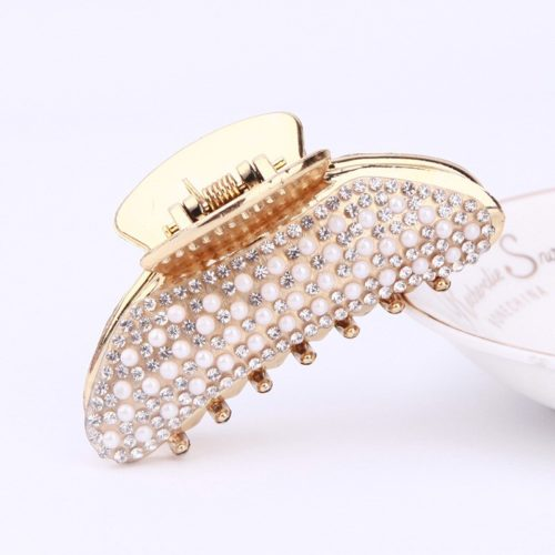 Clamp Hair Clip with Stones