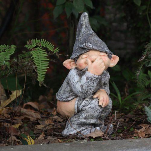 Naughty Garden Gnome Resin Figurine