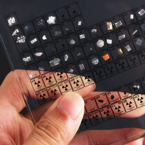 Acrylic Periodic Table with Real Elements