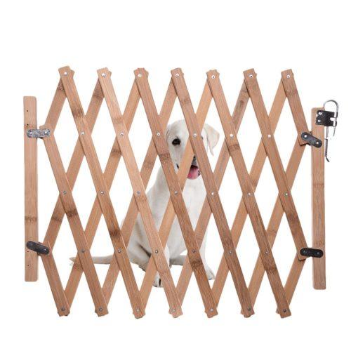 Bamboo Expandable and Foldable Dog Gate