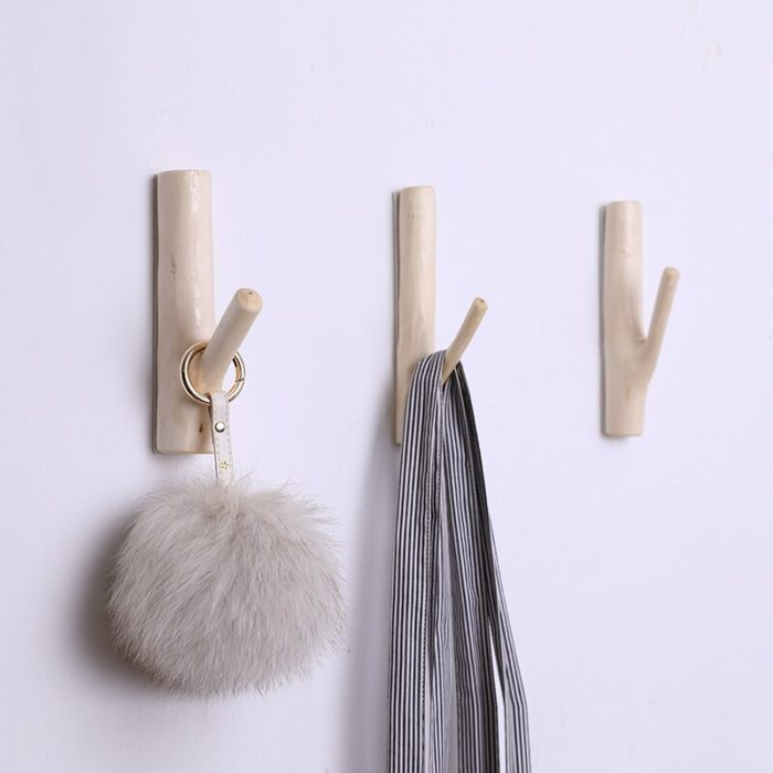 Punch-Free Natural Branch Wall Hook