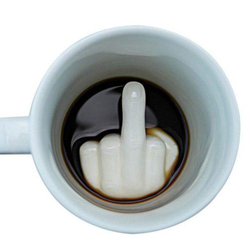 Ceramic 300ml Middle Finger Mug