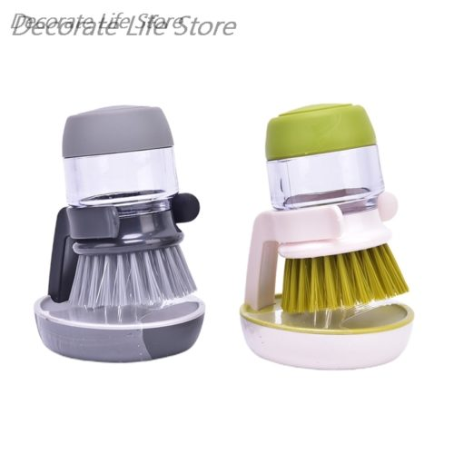 Refillable Pot Cleaning Brush with Holder