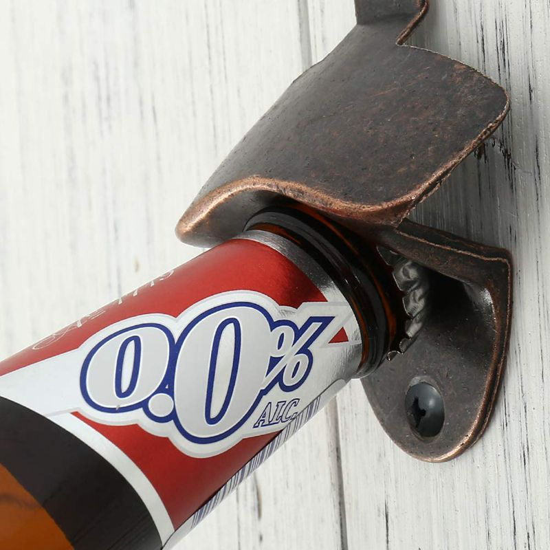 10 Pack Bottle Opener Wall Mounted Rustic Beer Opener Set Vintage Look with Mounting Screws for Kitchen Cafe Bars