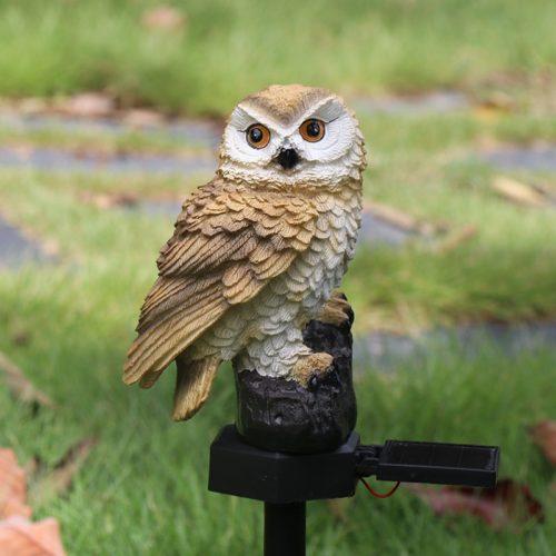 Owl Solar Garden Light Waterproof Lamp
