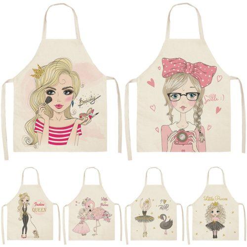 Ladies Printed Cute Baking Apron