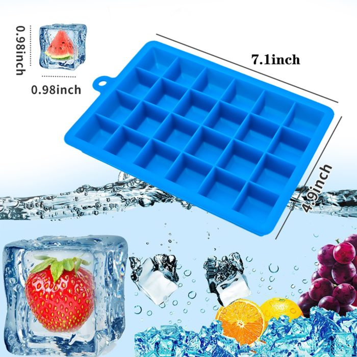 Silicone Ice Cube Tray with Lid