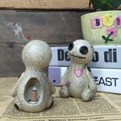 Voodoo Doll Cone Burner Incense Holder