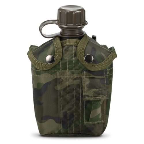 1L Army Water Bottle with Cover