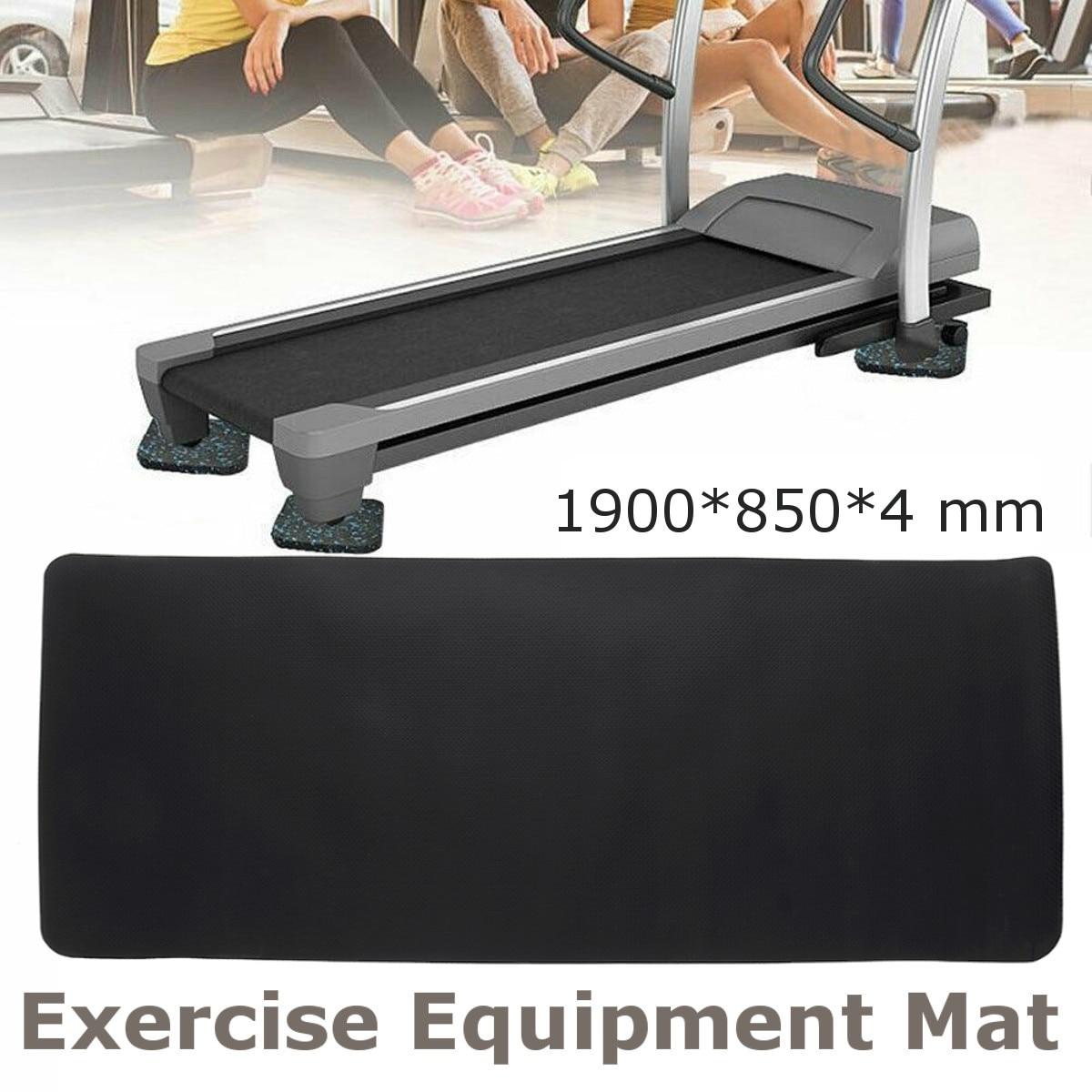 190x85cm NBR Exercise Mat Gym Fitness Equipment For Treadmill Bike Protect Floor Mat Running Machine Shock Absorbing Pad Black