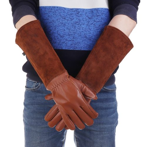 Leather Long Gardening Gloves