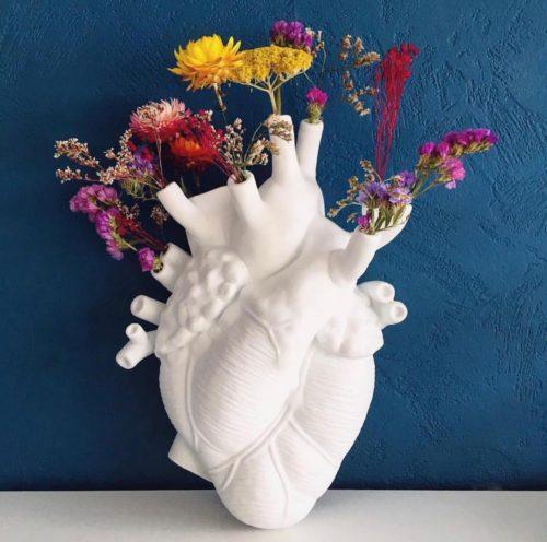 Anatomical Human Heart Vase