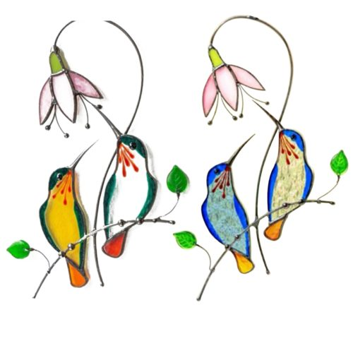 Hummingbird Stained Glass Hanging Decor
