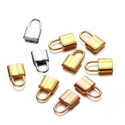 Stainless Steel Mini Padlock Pendants (10Pcs)