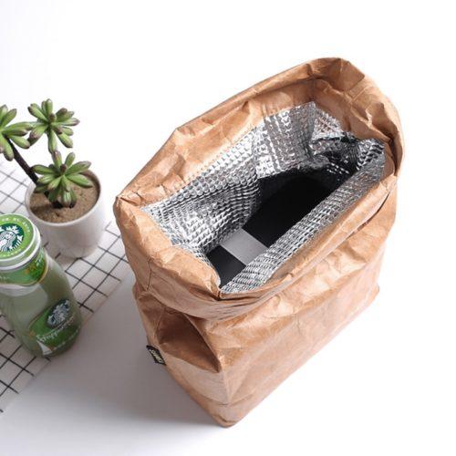 Kraft Paper Bag Reusable Lunch Bag