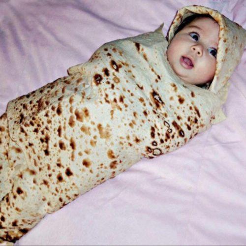Burriton Baby Blanket with Hat Set
