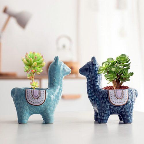 Nordic Ceramic Llama Succulent Planter