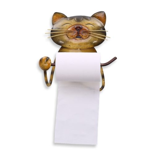 Wall Mounted Cat Toilet Roll Holder