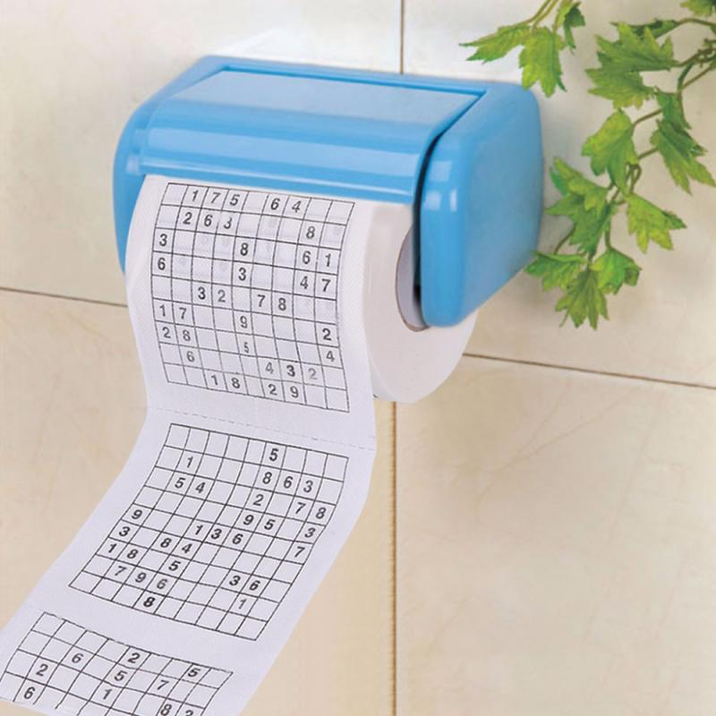 Creative Sudoku Game Toilet Paper Games Roll Paper Towel Tenacity Durable Funny Printed Toilet Paper Household Cleaning Tools
