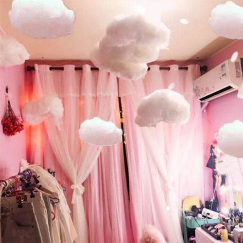 White Fluffy Hanging Clouds for Bedroom