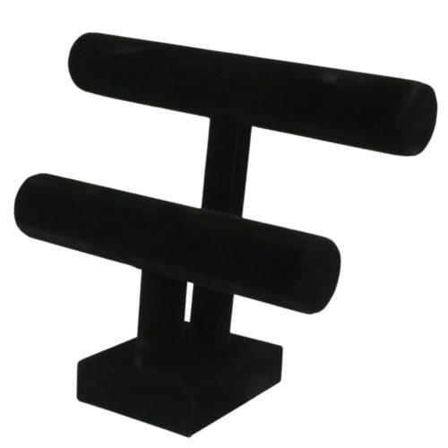2-Tier T-Bar Bracelet Stand Display