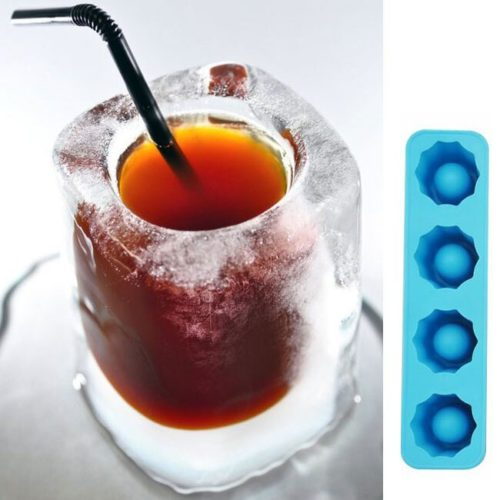 Four-Slot Silicone Shot Glass Mold