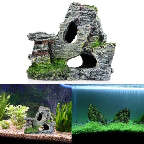 Fish Tank Cave Realistic Stone Decor