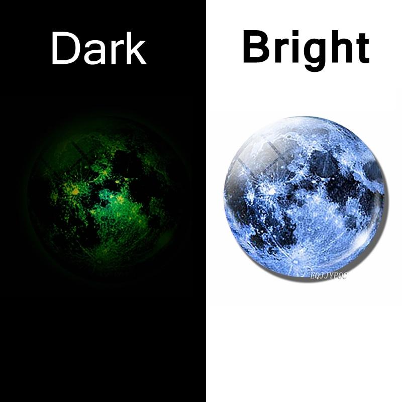 Luminous Planet Moon Stars Fridge Magnet Nebula Galaxy Universe Decorative Refrigerator Magnets Message Board Stickers Glowing