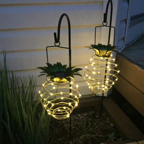 Hanging Outdoor Pineapple Solar Lights