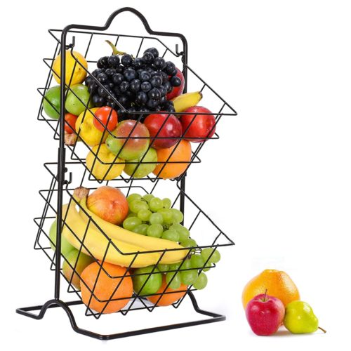 Two-Tier Wire Baskets for Produce
