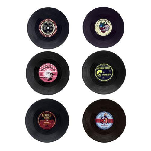 Vintage Vinyl Record Coasters (6pcs)