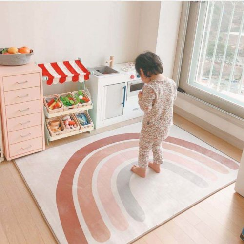 Thick and Non-Slip Rainbow Playmat