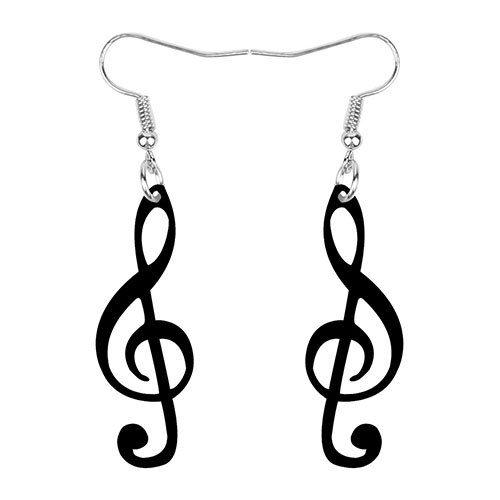Drop Dangle Musical Note Earrings