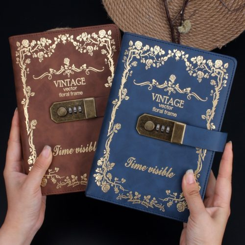 A5 Vintage Diary Notebook With Lock