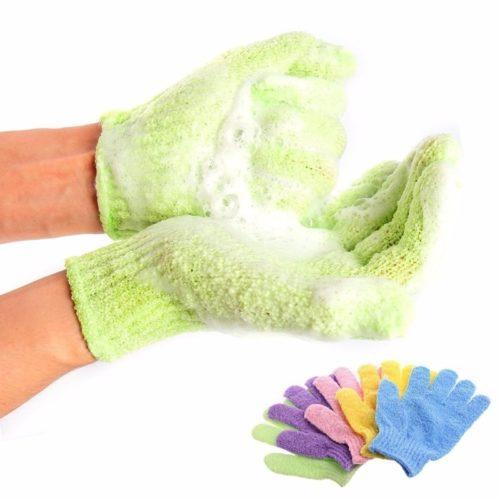 Exfoliating Bath Gloves Scrub Mitts