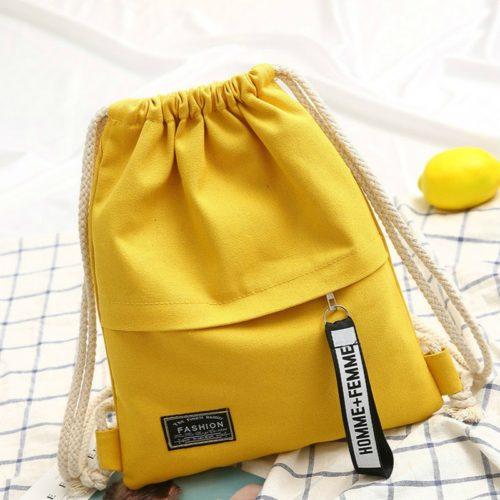Simple Canvas Drawstring Bag