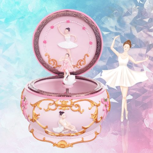 Spinning Ballet Music Box with Lights
