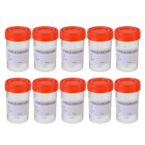 Labeled 60ml Specimen Bottles (10pcs)