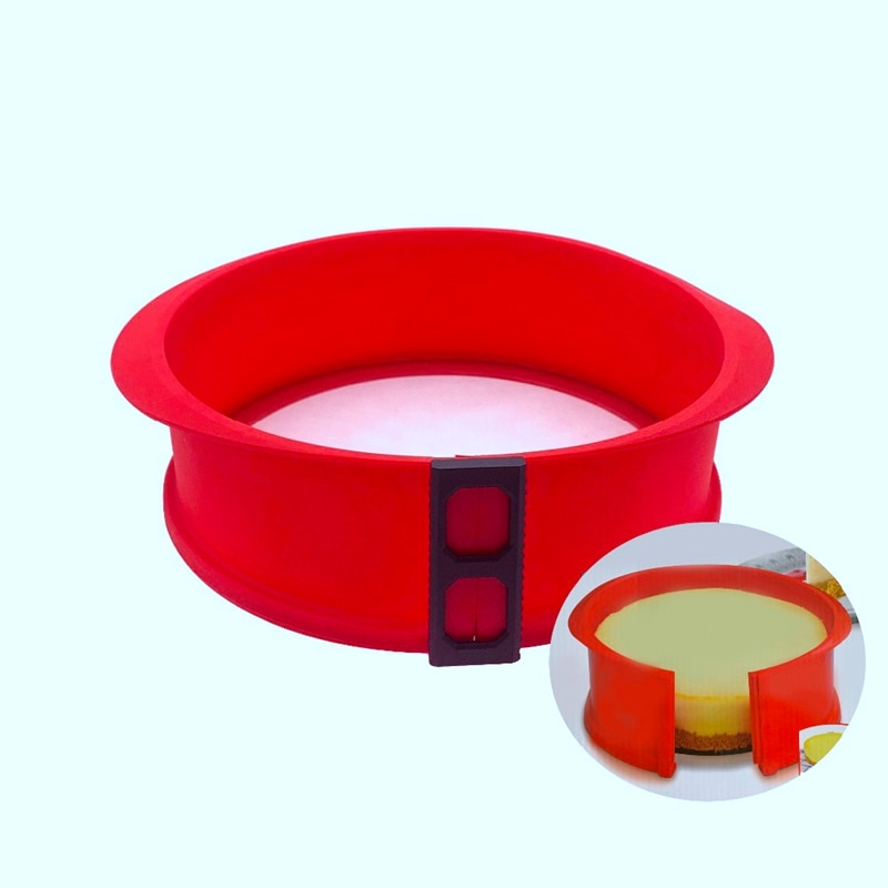 BMBY-Silicone Springform Pan with Glass Base 3D Sugarcraft Fondant Cake Chocolate Muffin Mold Diy Baking Pastry Mould
