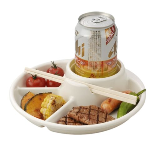 Portable Non-Breakable Divided Plate