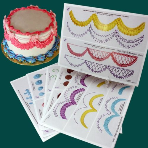 Paper Piping Templates (23 Sheets)