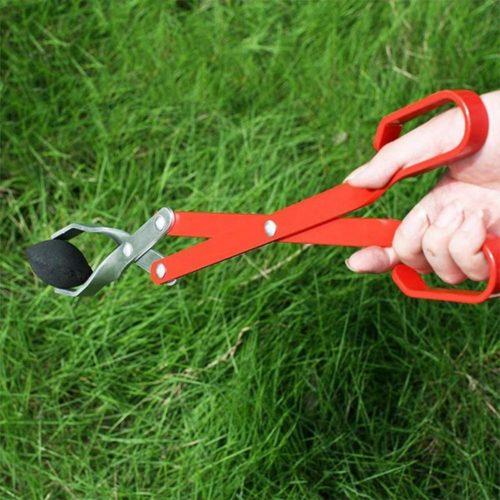 Scissor-Type Aluminum Charcoal Tongs