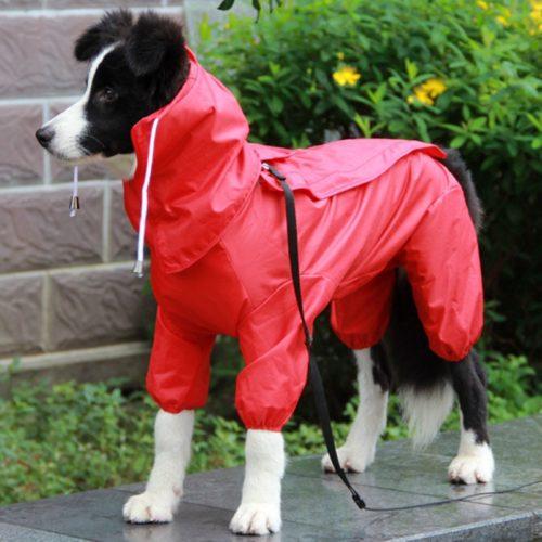 Dog Raincoat with Hood Pet Rain Jacket