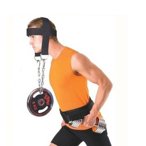 Weight Lifting Head Harness with Chain