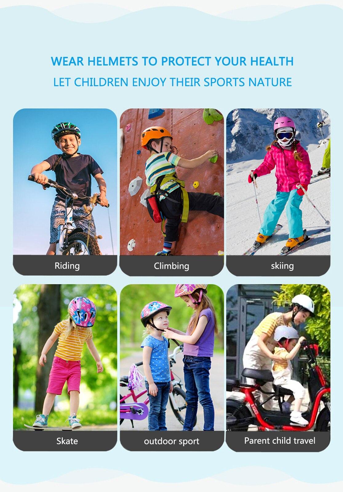 Children's Bicycle Helmet 3D Dinosaur Part Scooter Various Sports Adjustable Kid Girl Boy Breathable Hole Helmet