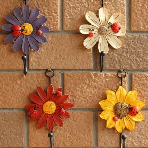 Dainty Resin Flower Wall Hook