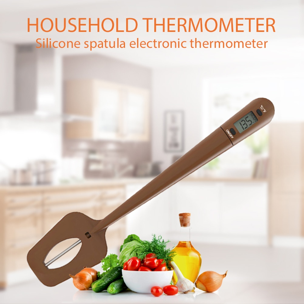 3 Digital Digital Cooking Thermometer Double Use Silicone Scraper Spatula safety Cooking Food BBQ Meat Thermometer Baking Tool