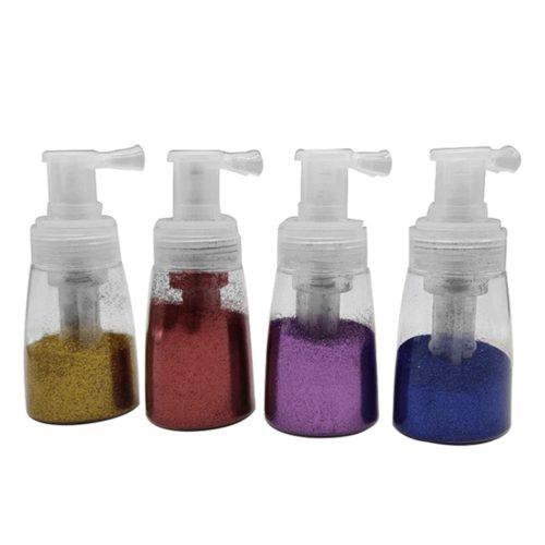 Clear Powder Spray Bottle