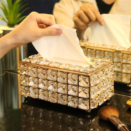 Rhinestone Crystal Tissue Box